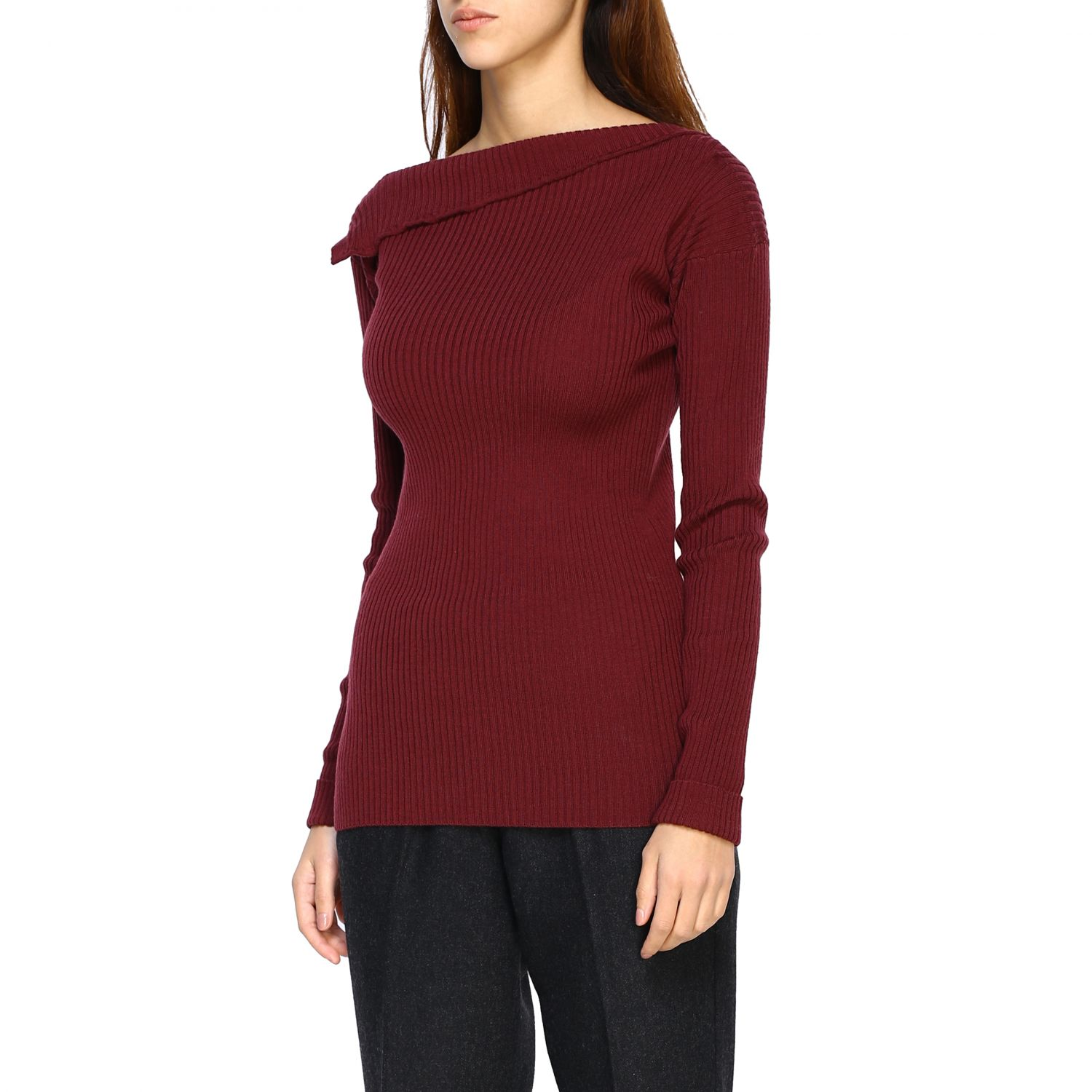 Jumper Alpha Studio: Jumper women Alpha Studio mahogany 4