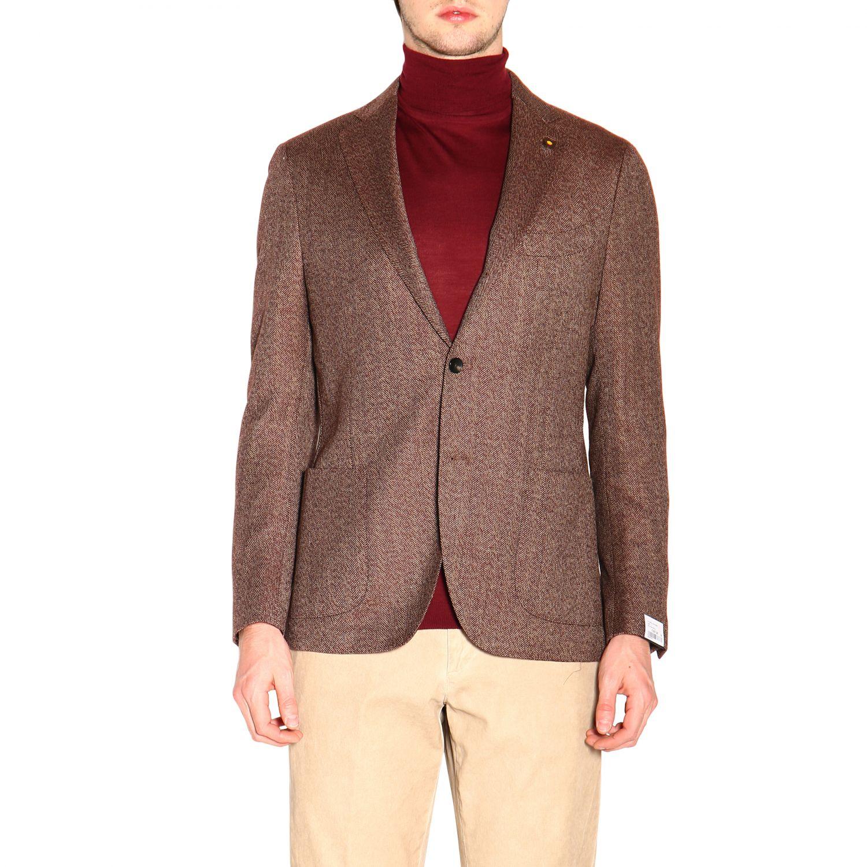 Jacket men Lardini brown 1