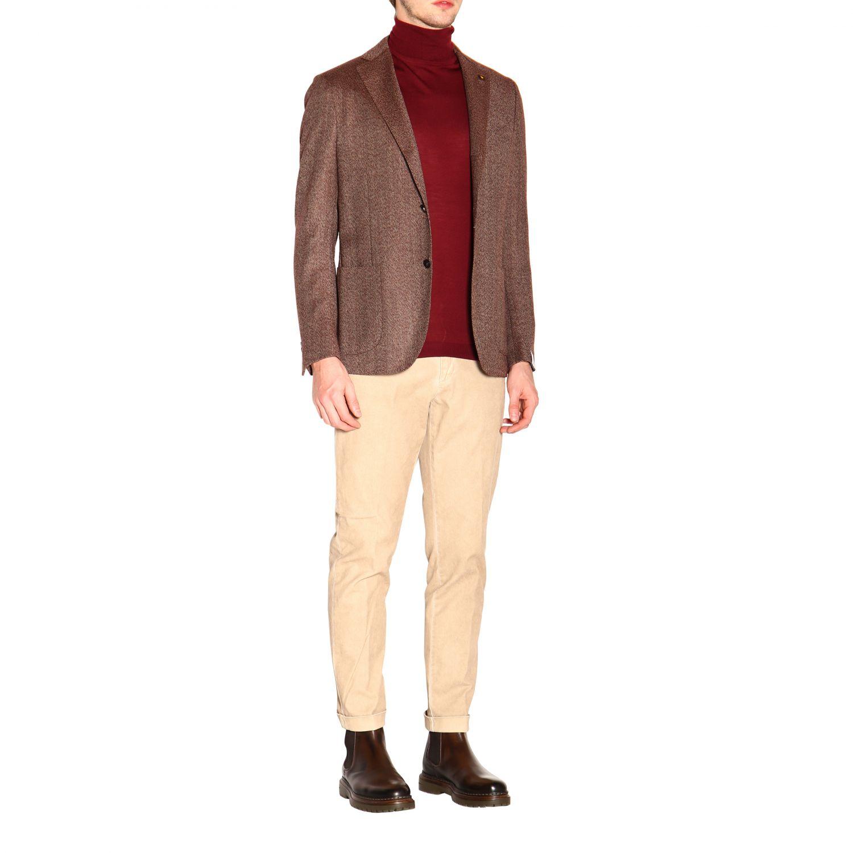 Jacket men Lardini brown 2