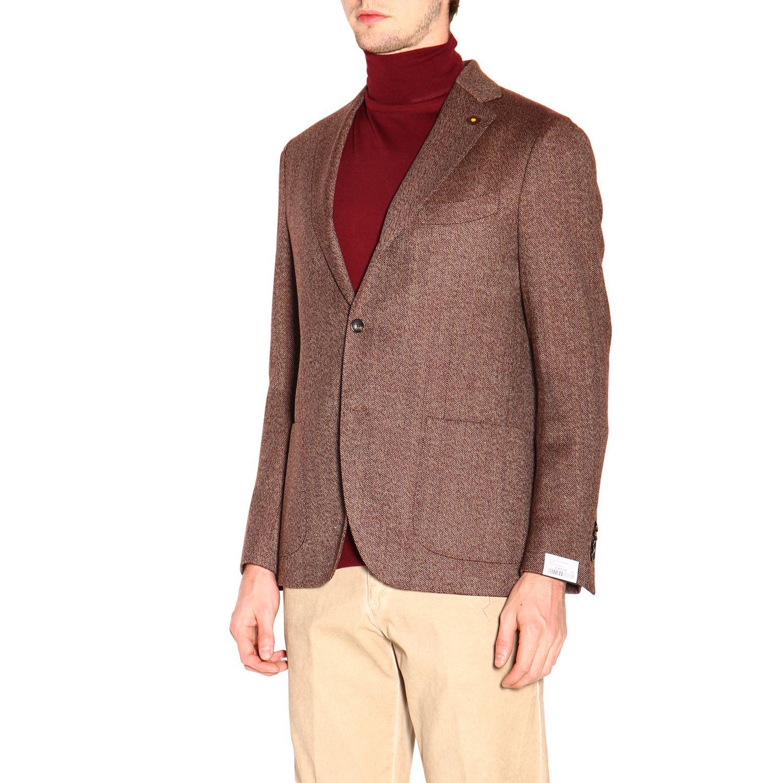 Jacket men Lardini brown 4