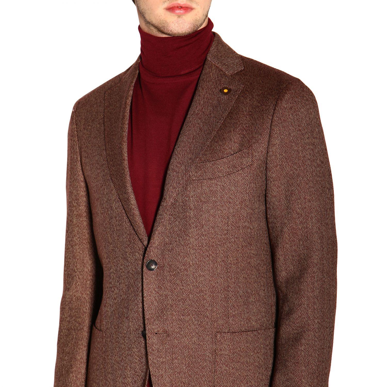 Jacket men Lardini brown 5