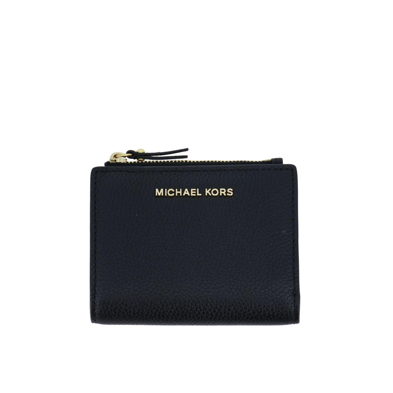 Michael Michael Kors 捶打皮钱包 黑色 1