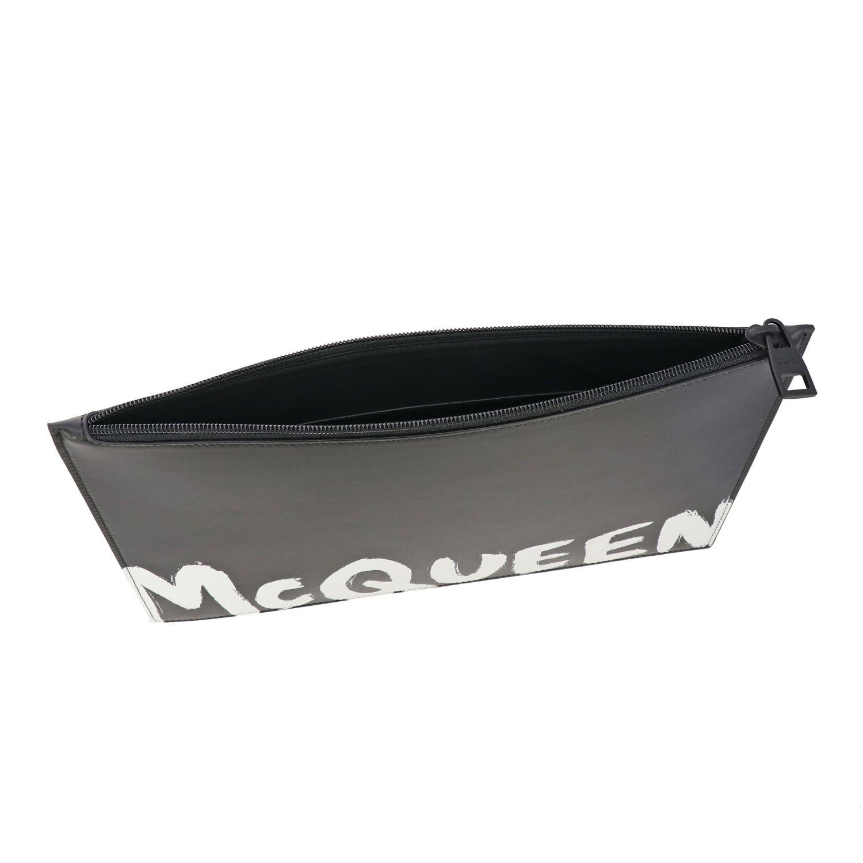 Portafoglio Mcq Mcqueen: Portafoglio Mcq Mcqueen in pelle liscia con big logo bianco 5