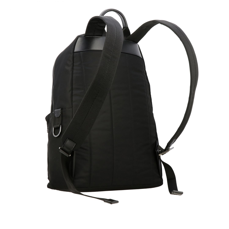 Backpack Dolce & Gabbana: Dolce & Gabbana nylon backpack with big logo black 3