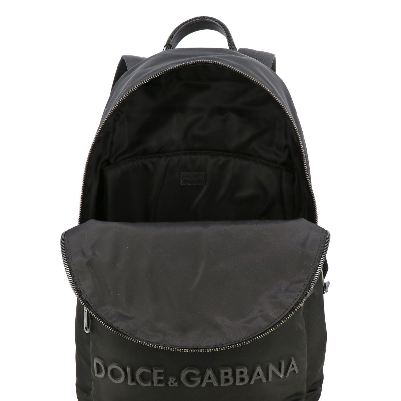 Backpack Dolce & Gabbana: Dolce & Gabbana nylon backpack with big logo black 5