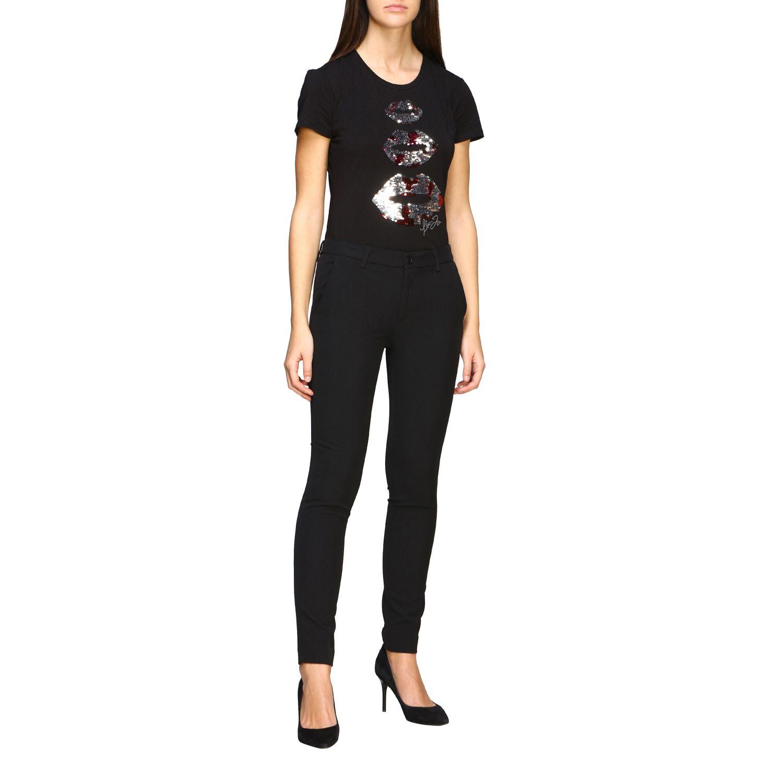 Camiseta mujer Liu Jo negro 2