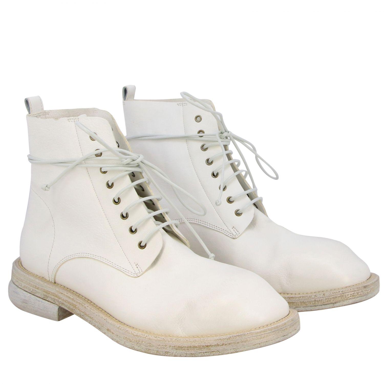 Marsell Dodone Stiefelette aus Leder weiß 2