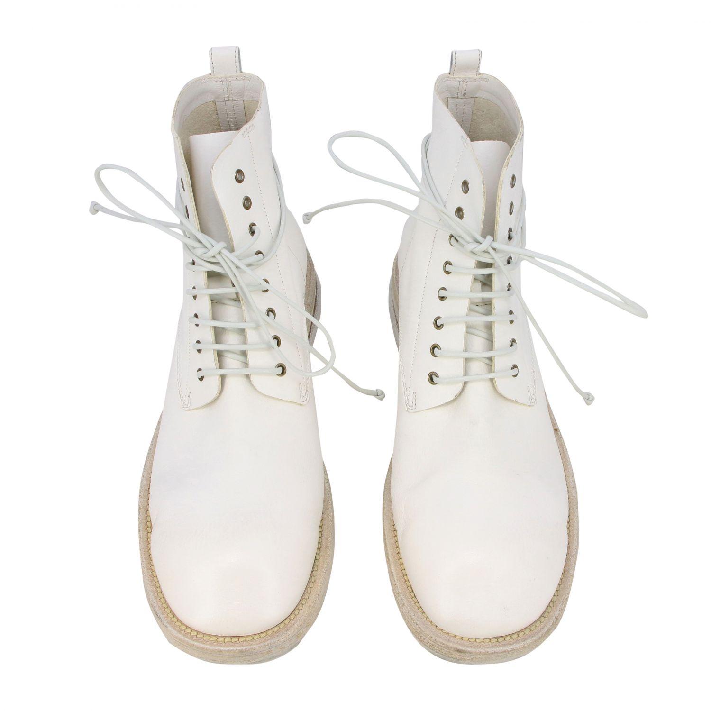Marsell Dodone Stiefelette aus Leder weiß 3