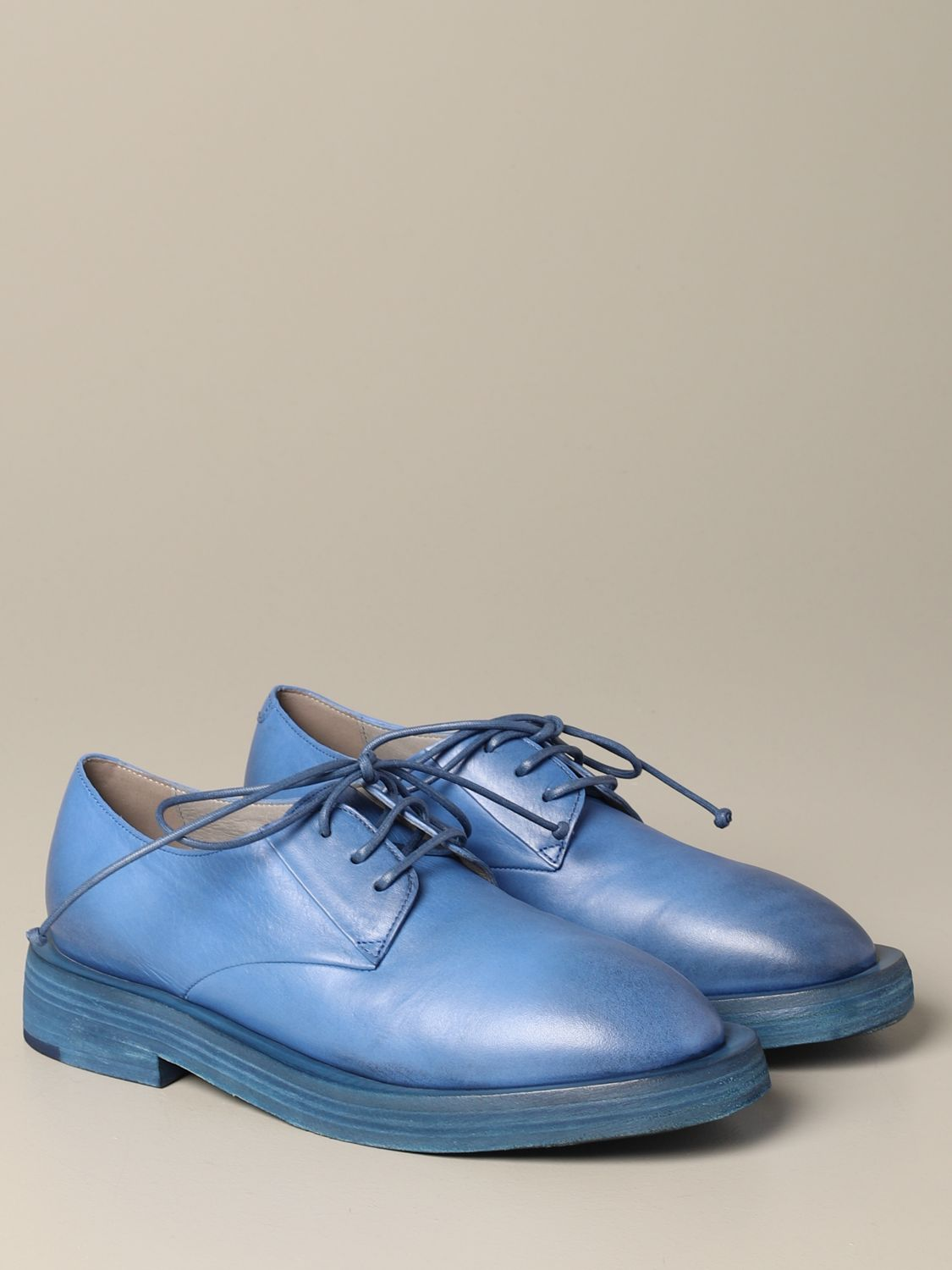 Marsèll Mentone derby in leather cobalt 2