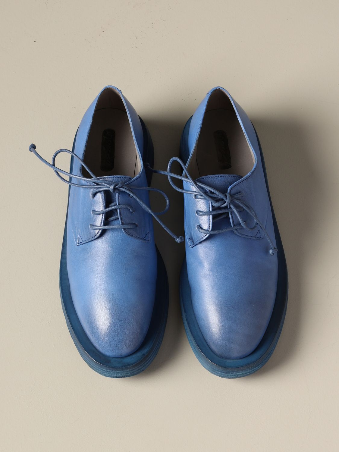 Marsèll Mentone derby in leather cobalt 3