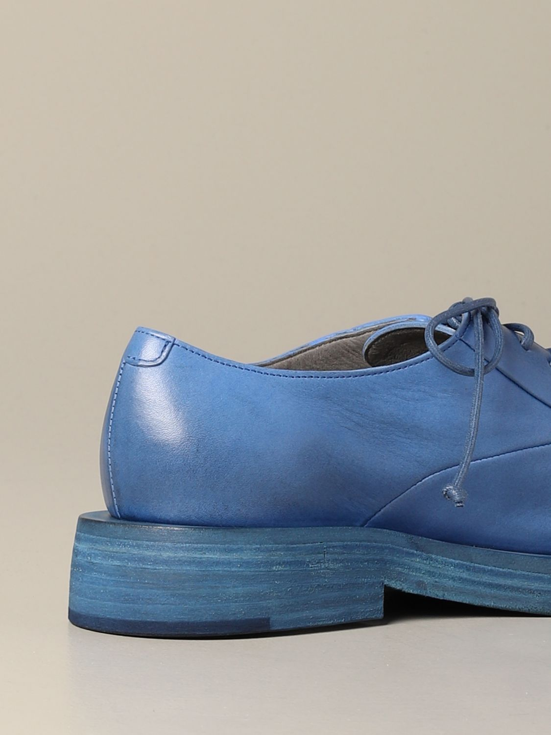 Marsèll Mentone derby in leather cobalt 5