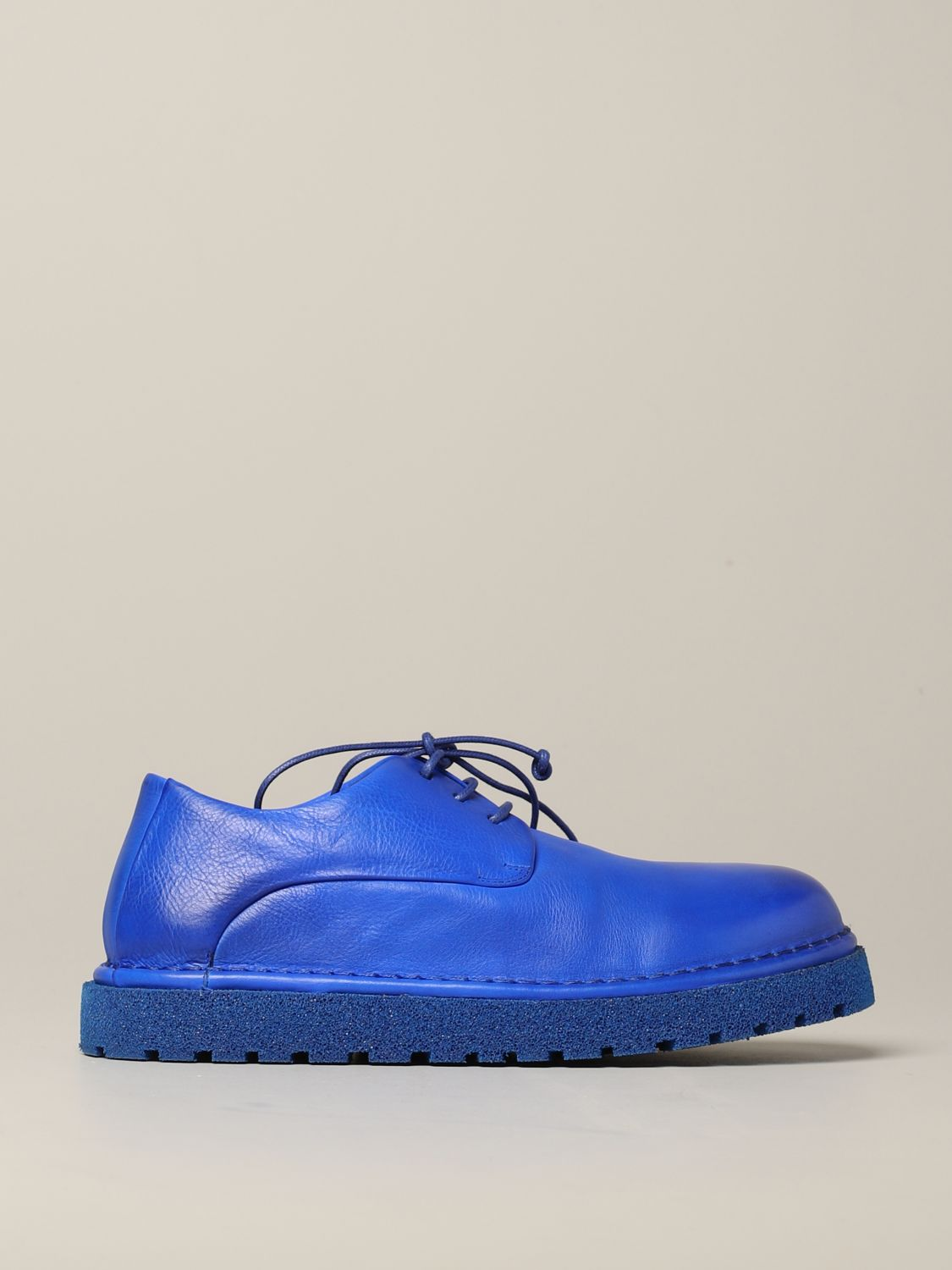 Marsèll Derby Pallottola pomice in leather blue 1