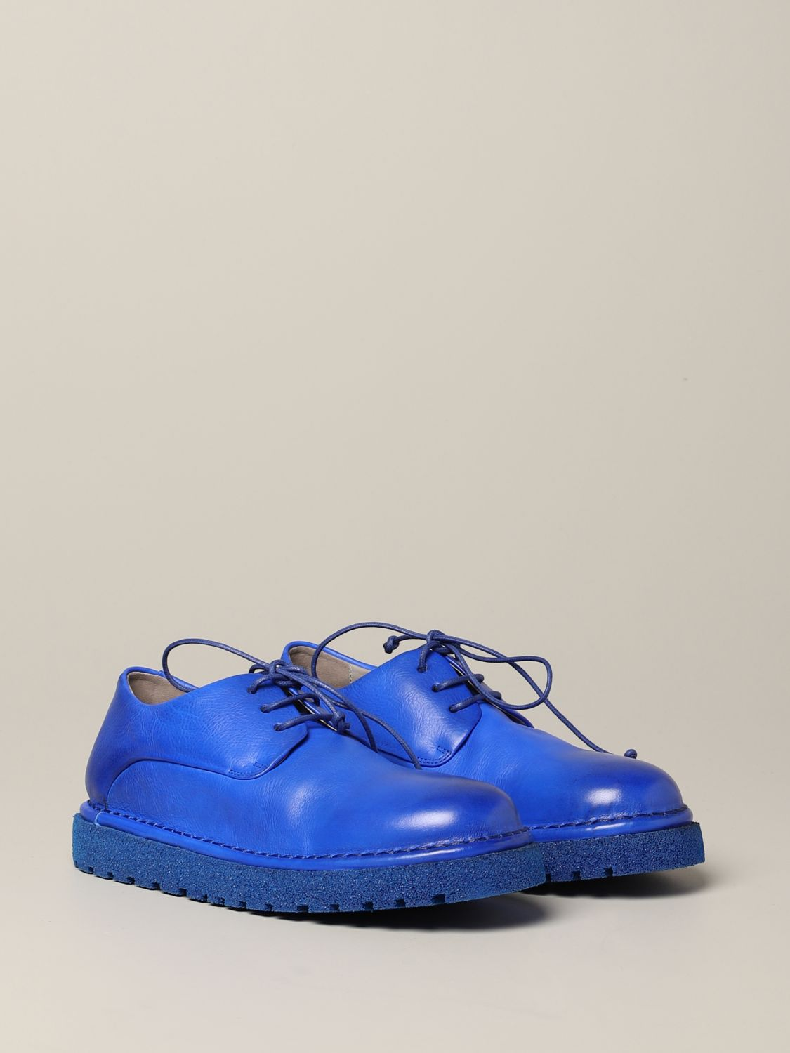 Marsèll Derby Pallottola pomice in leather blue 2