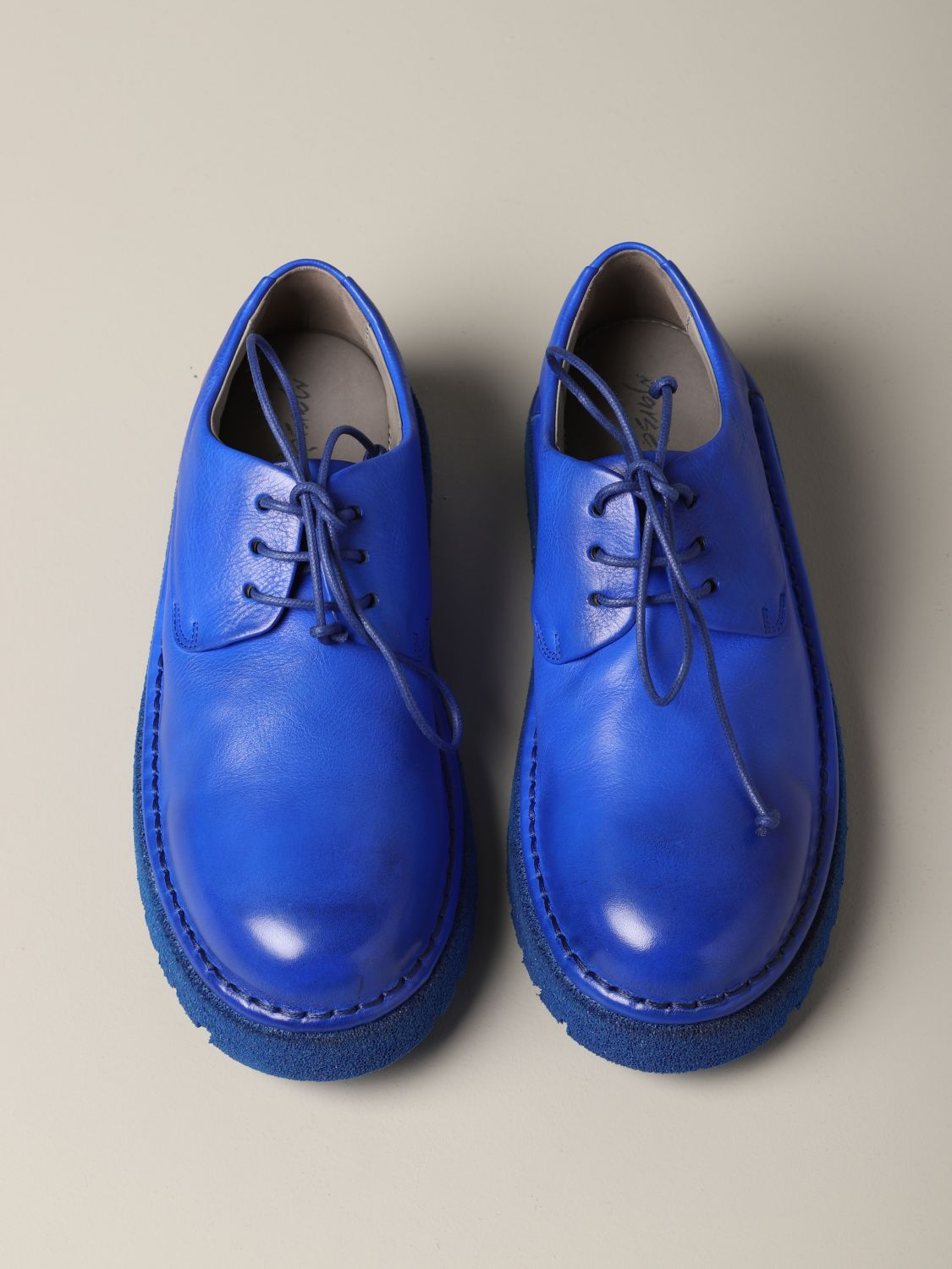 Marsèll Derby Pallottola pomice in leather blue 3