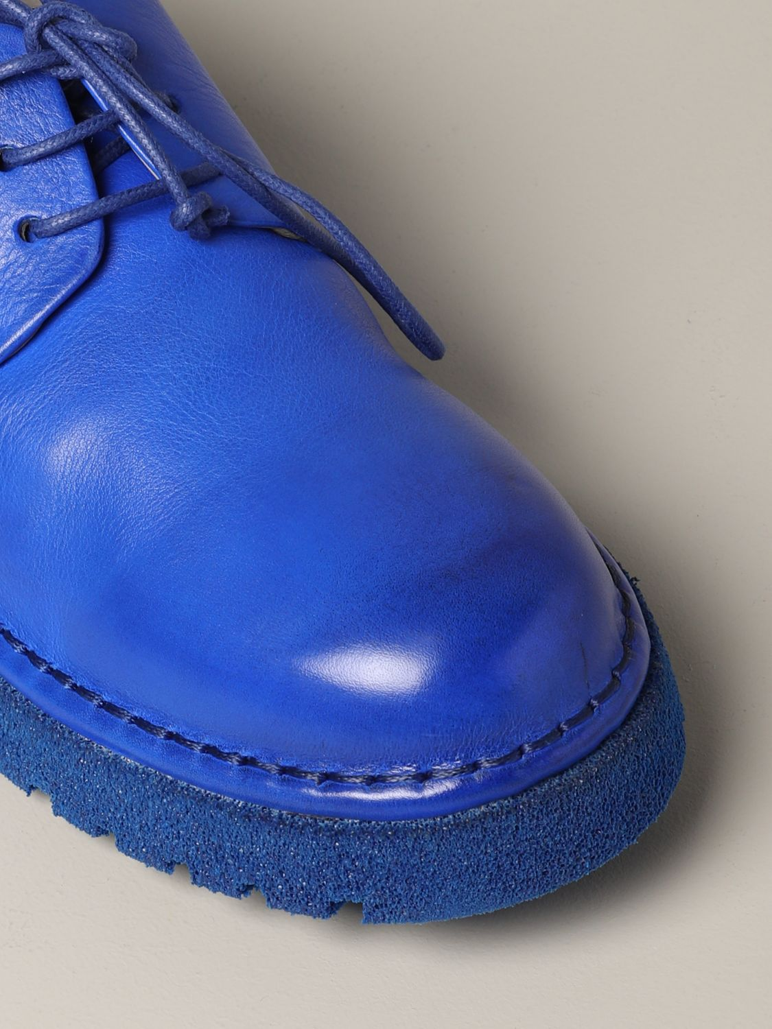 Marsèll Derby Pallottola pomice in leather blue 4