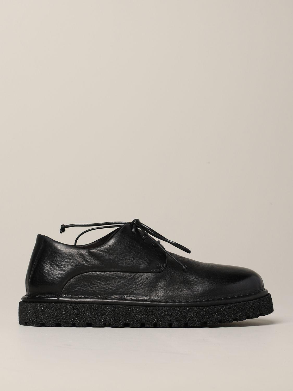 Derby Marsèll Pallottola pomice in leather black 1