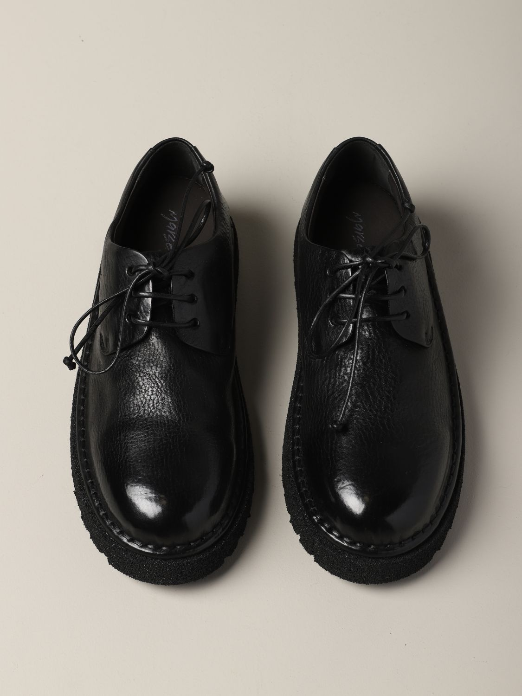 Derby Marsèll Pallottola pomice in leather black 3