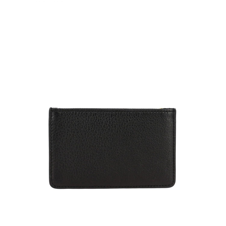 Tory Burch logo 拉链装饰捶打皮卡包 黑色 2