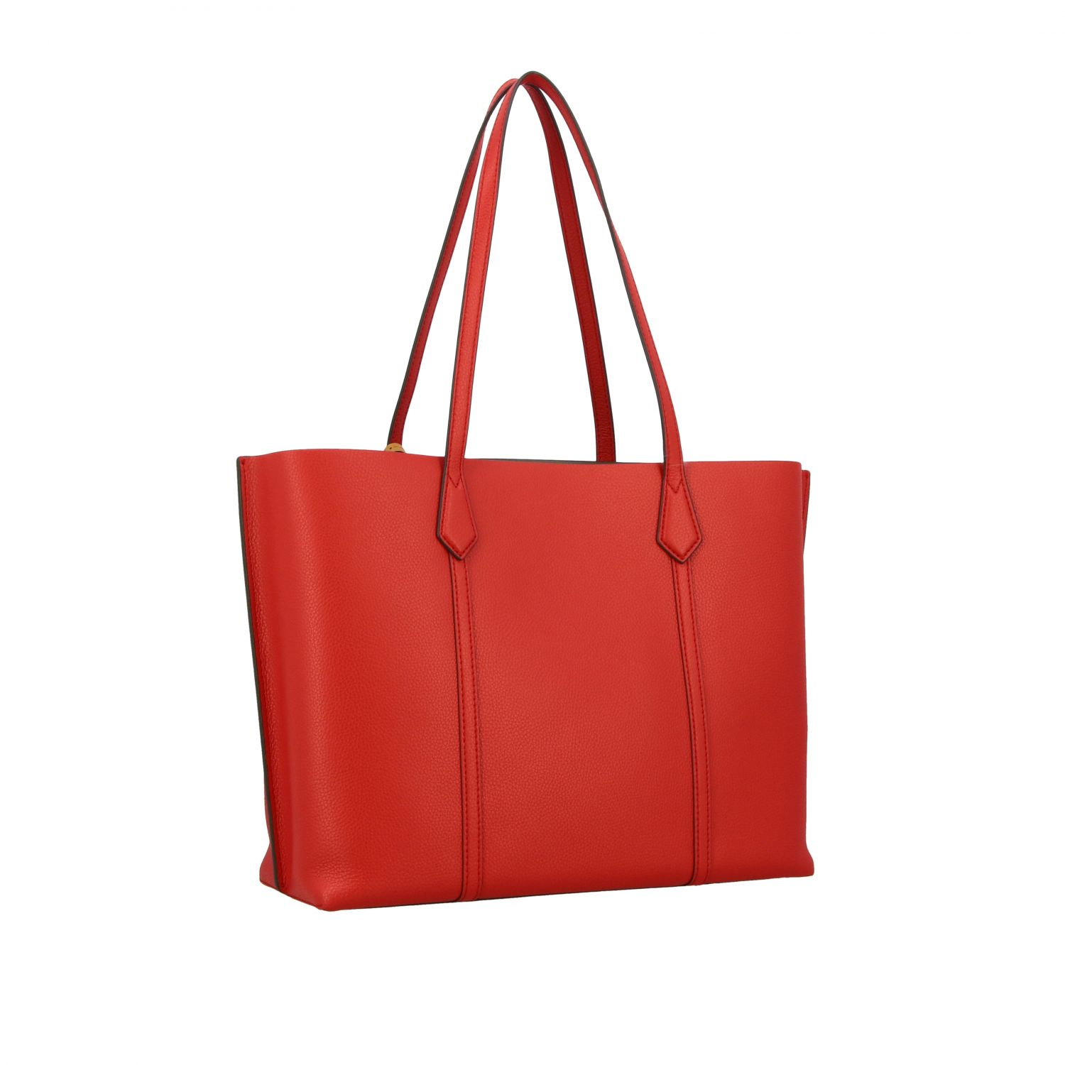 Perry Tory Burch tote bag in textured leather red 3