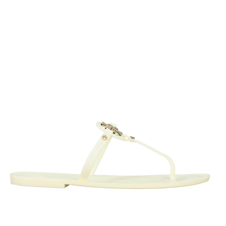 Sandalias planas mujer Tory Burch blanco 1