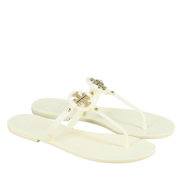 Sandalias planas mujer Tory Burch blanco 2