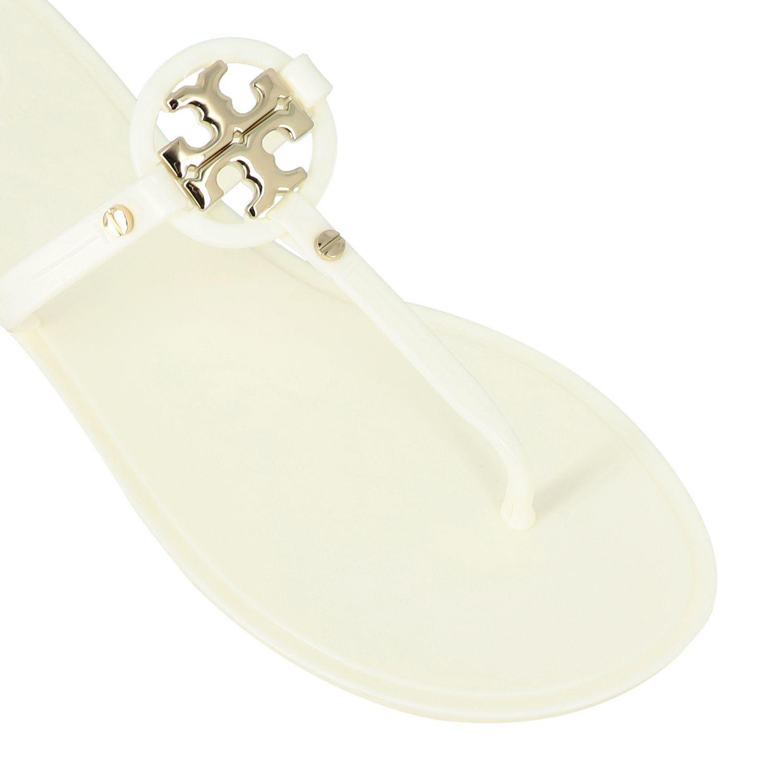 Sandalias planas mujer Tory Burch blanco 4