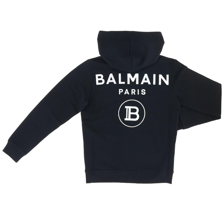 Maglia Balmain: Felpa Balmain con cappuccio e logo nero 2