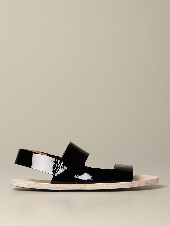 Sandalo Sandellone Marsèll in vernice nero 1