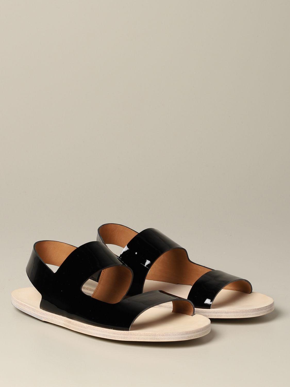 Sandalo Sandellone Marsèll in vernice nero 2