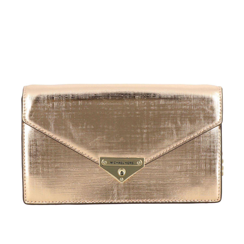 Michael Michael Kors mini bag in laminated leather gold 1