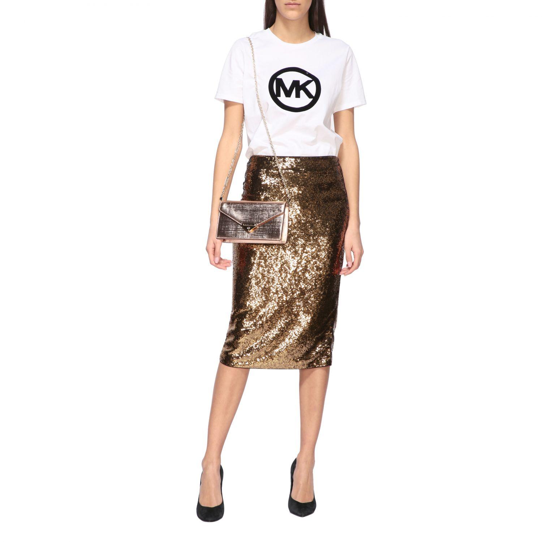 Michael Michael Kors mini bag in laminated leather gold 2
