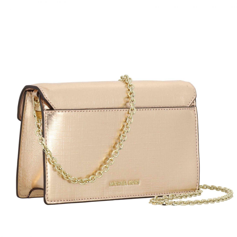 Michael Michael Kors mini bag in laminated leather gold 3