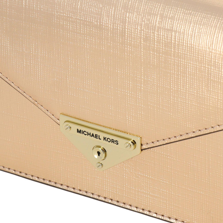 Michael Michael Kors mini bag in laminated leather gold 4