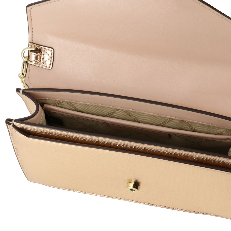 Michael Michael Kors mini bag in laminated leather gold 5