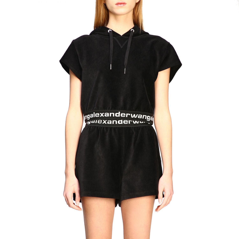 Alexander Wang short-sleeved sweatshirt with logo black 1