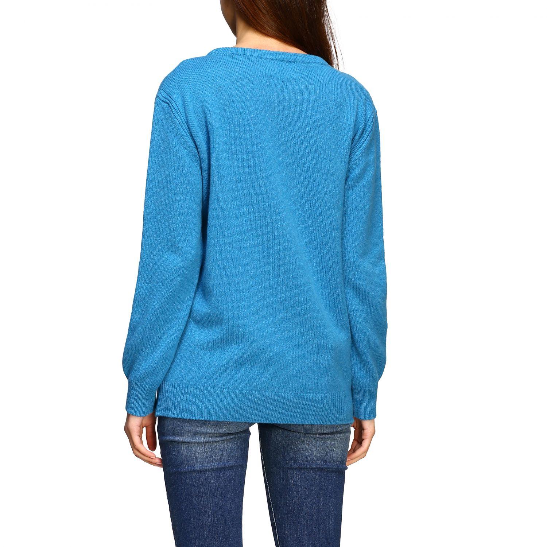 Sweater Alberta Ferretti: Alberta Ferretti sweater with sequin love me writing turquoise 3