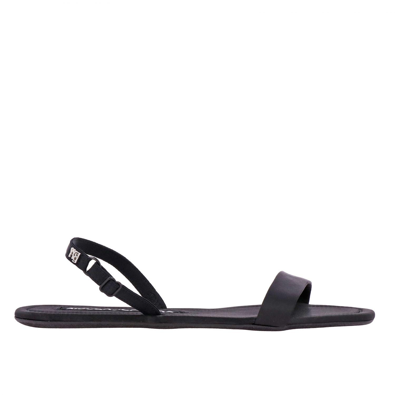 Flat sandals women Alexander Wang black 1