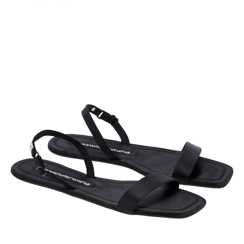Flat sandals women Alexander Wang black 2