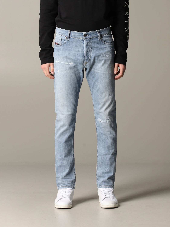 Jeans Diesel in denim con rotture blue 1