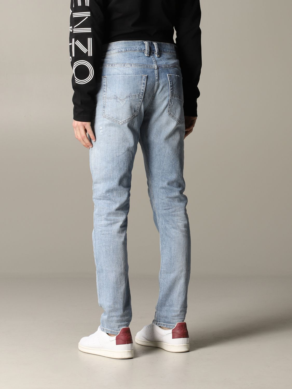Jeans Diesel in denim con rotture blue 3