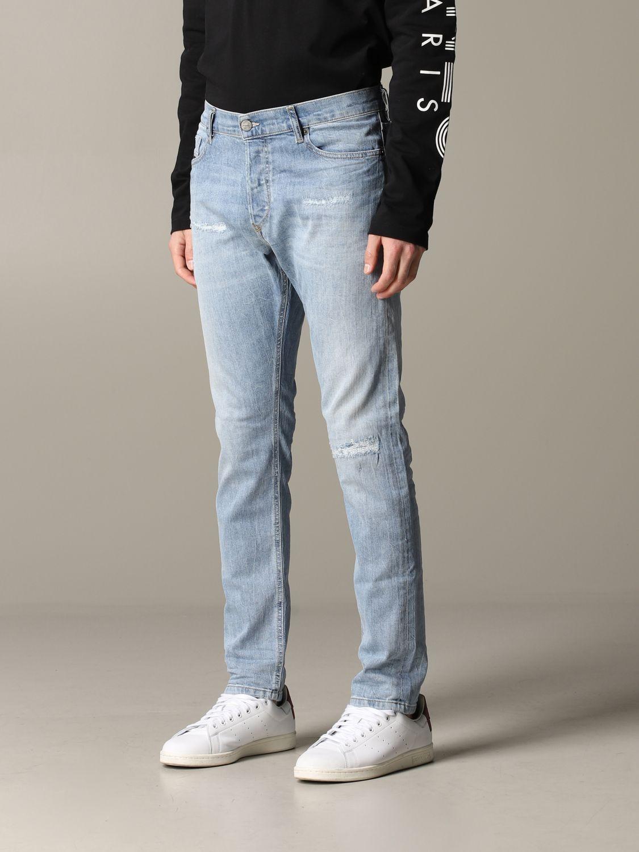 Jeans Diesel in denim con rotture blue 4
