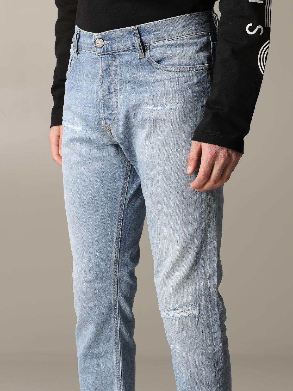 Jeans Diesel in denim con rotture blue 5