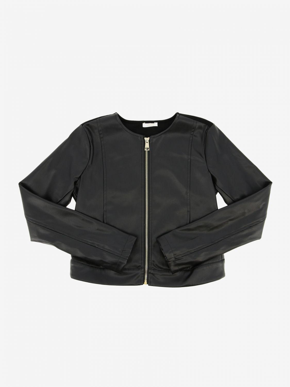 Liu Jo leather jacket with zip blue 1