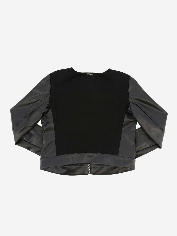 Liu Jo 拉链真皮外套 黑色 2