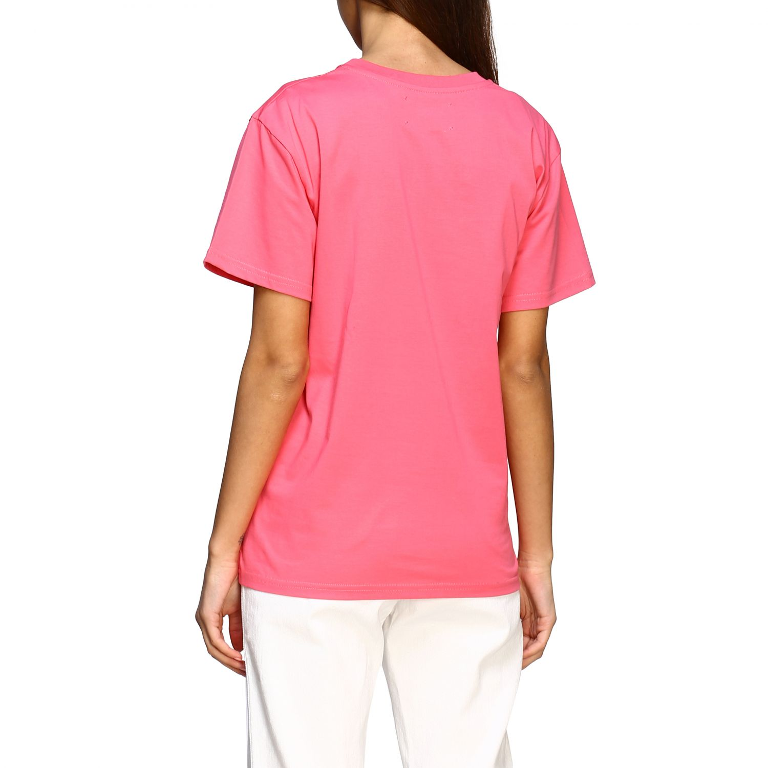 T-shirt Alberta Ferretti: T-shirt Alberta Ferretti avec inscription en paillettes rose 3