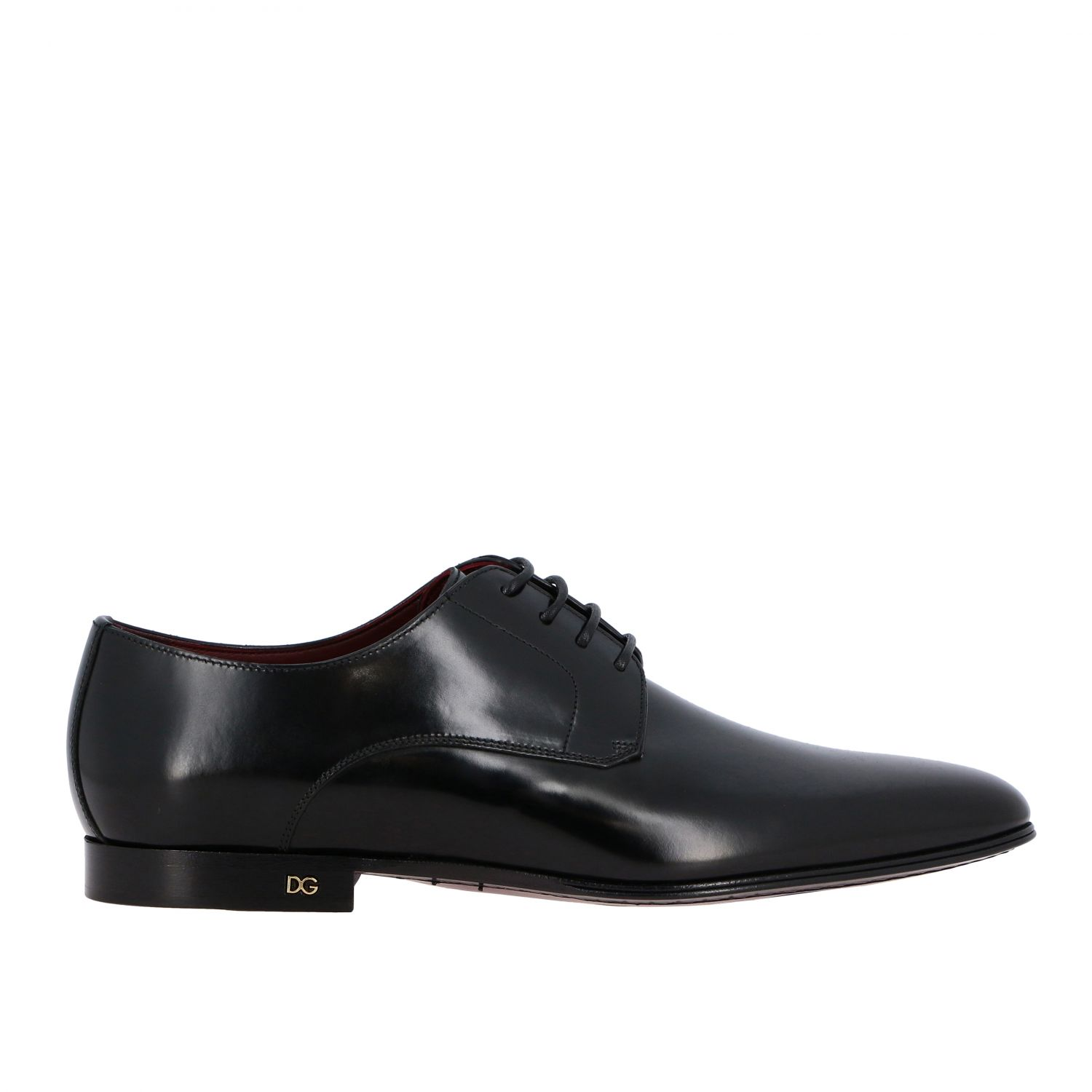 Brogue shoes Dolce & Gabbana: Dolce & Gabbana classic lace-up shoe in shiny leather black 1