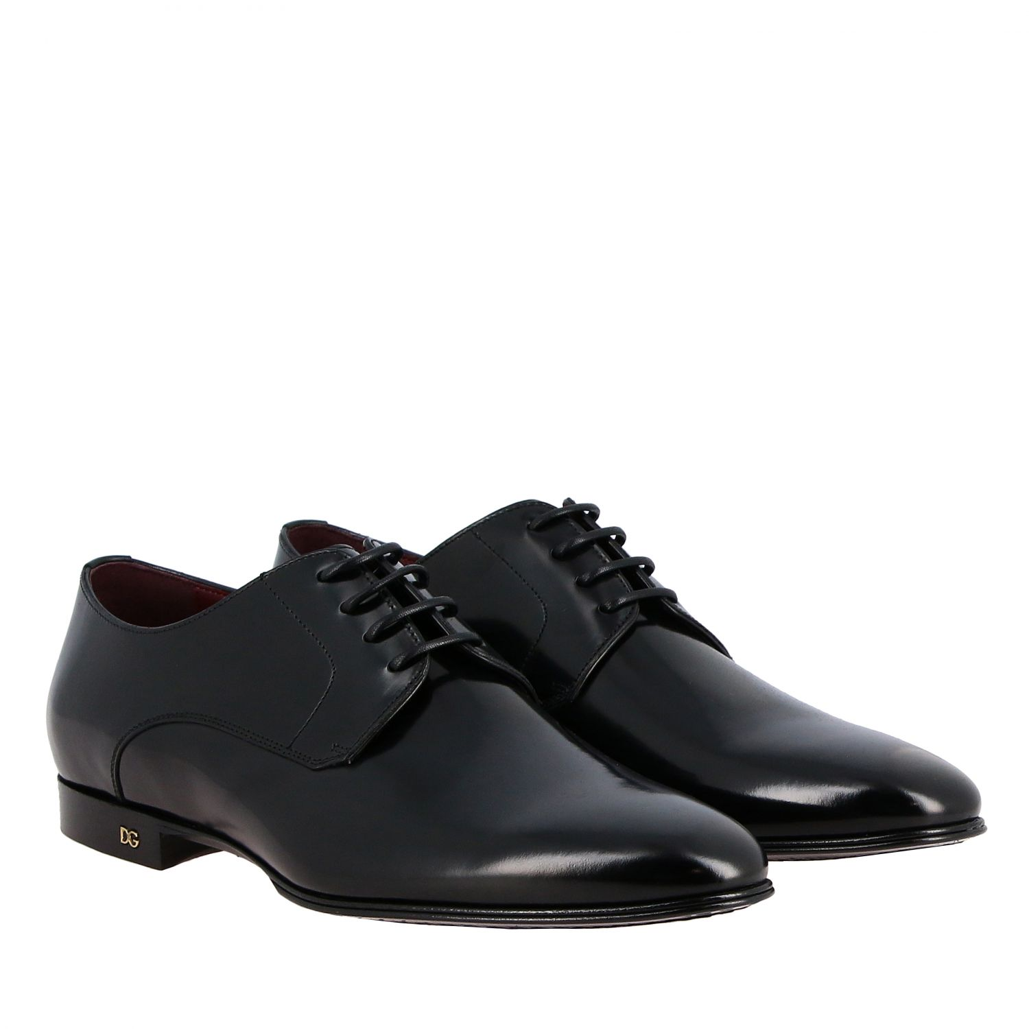 Brogue shoes Dolce & Gabbana: Dolce & Gabbana classic lace-up shoe in shiny leather black 2