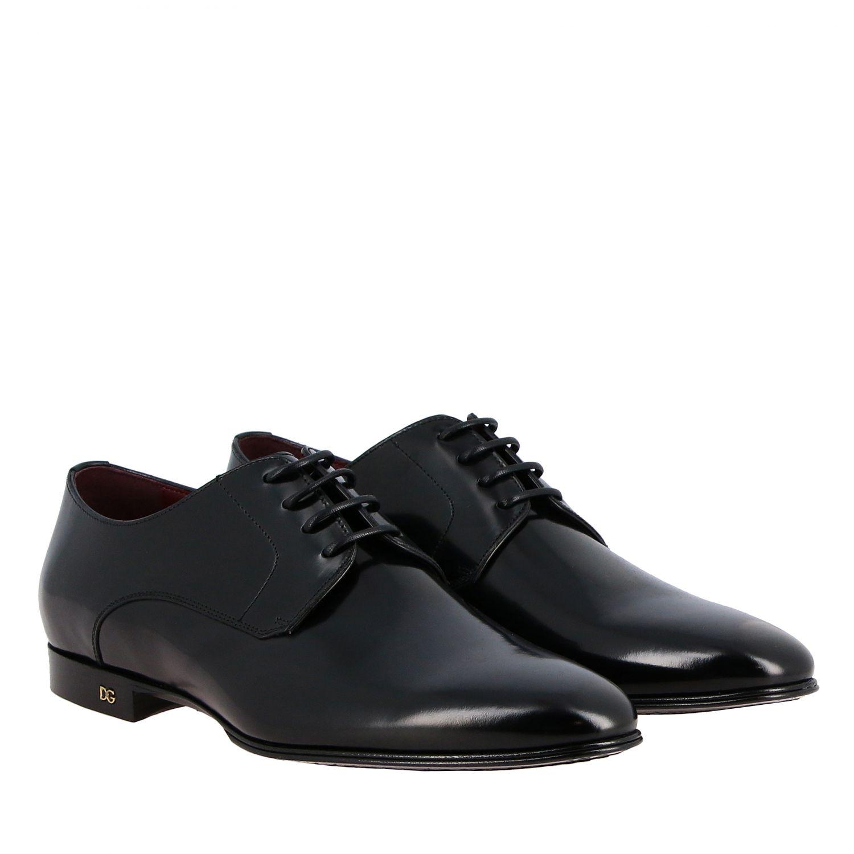 Schnürschuhe Dolce & Gabbana: Dolce & Gabbana Schnürschuhe aus glänzendem Leder schwarz 2