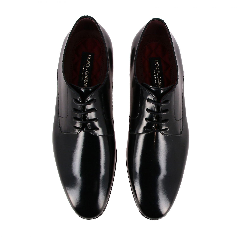 Schnürschuhe Dolce & Gabbana: Dolce & Gabbana Schnürschuhe aus glänzendem Leder schwarz 3