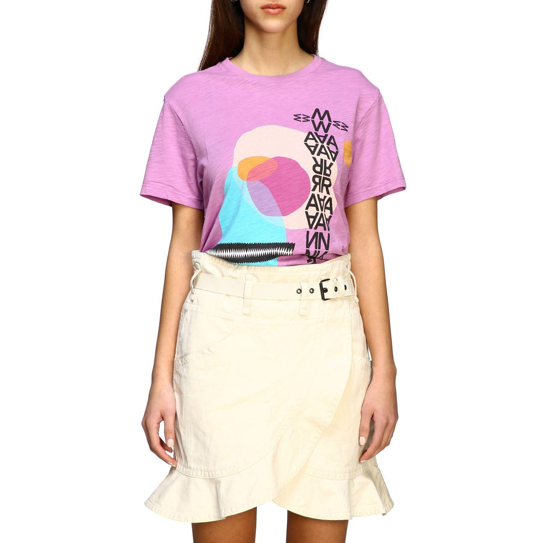 Isabel Marant Etoile T-Shirt mit Prints violett 1